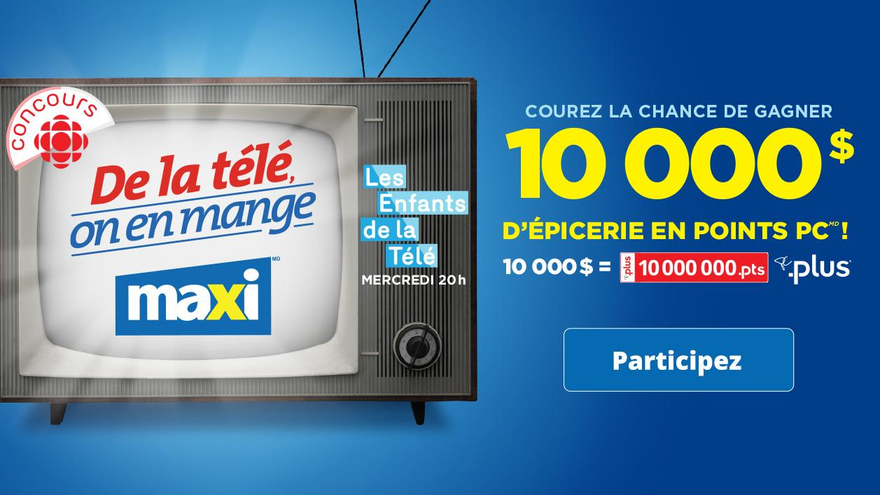 Concours De la télé, on en mange - Du 14 septembre au 3 novembre 2016